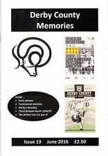 Derby County Memories magazine - back copies issues 2-16