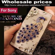 Beautiful Peacock Diamond Rhinestone Crystal case cover For Sony Xperia X XA XZ