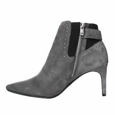Calvin Klein Womens Jozie Suede Pointed Toe Ankle Fashion Boots