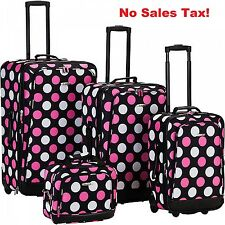 Expandable Luggage Set 4 Piece Travel Suitcase Carry On Flight Tote Bag Large