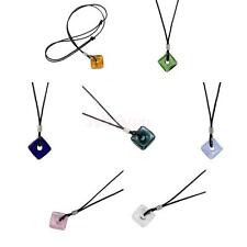 Glasses Pendant Necklace Square Perfume Oil Holder Necklace Fashion Jewelry