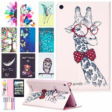 """Patterned Flip Leather Wallet Stand Case Cover For Amazon Kindle Fire HD 8"""" 2016"""