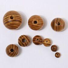 100pcs Round Wood Spacers Loose Bead Natural Wooden Ball Beads DIY Craft Jewelry