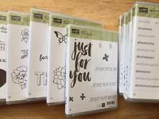 BRAND NEW Stampin Up! Clear-Mount Stamp Sets RETIRED Variety, SAB, Hostess...