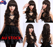 65cm Women Girls Long Curly Wavy Wig Bangs Hair Anime Cosplay Party Wig+Wig Cap