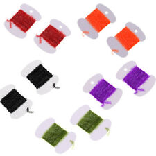 Tinsel Chenille Fly Jig Tying Fishing Flies Streamer for Lure Bait Making DIY