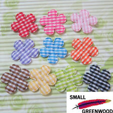 "(U Pick) Wholesale 100-500 Pcs. 1"" Padded Felt Gingham Flower Appliques F3150"