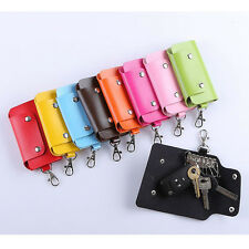 PU Leather Key Chain Accessory Pouch Bag Wallet Case Multifunctional Key Case