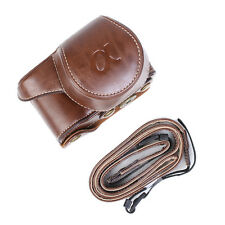 PU Leather Camera Bag Case Cover Pouch for Sony A5000 A5100 NEX 3N Black/Brown