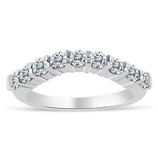1/2ctw Chevron Diamond Wedding Band in 10k White Gold