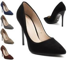 LADIES WOMENS HIGH HEEL STILETTO COURT PUMPS POINTY TOE COURT SHOES SIZE 3-8