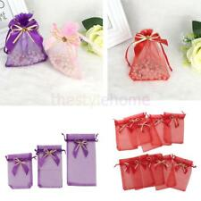 10pcs Drawstring Organza Bowknot Gift Pouch Candy Bags Wedding Favor