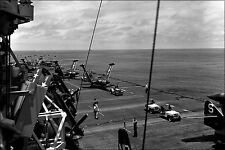 Poster, Many Sizes; Flight Deck Uss Valley Forge (Cv-45) F9F-2 Panthers, Korean