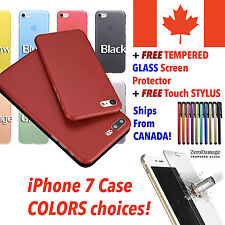 For iPhone 7 Case Cover with FREE Tempered GLASS Screen Protector & FREE Stylus!
