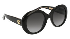 GUCCI GG0139S Woman Sunglasses New Round Polarized Gradient Grey Made In Italy