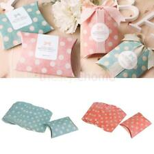 MagiDeal 12pc Dots Paper Pillow Small Gift Candy Boxes Wedding Party Favors Bags