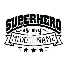 Superhero Hero Name Kids Wall Quote Sticker, Stencil, Decal, Transfer, UK