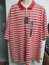 NWT Mens Big & Tall Casual SHirt by Arrow, Brick Red & Off White Striped