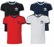 100% Adidas Originals Sport Essentials California Tee Men's Black Navy White Gym