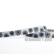 """3/8""""9mm Spider's Web grosgrain ribbon 5/10/50/100 yards hairbow Wholesale"""
