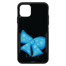 OtterBox Commuter for iPhone 5 SE 6 S 7 8 PLUS X Light Blue Black Bow Ribbon