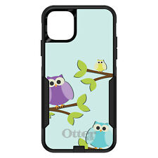 OtterBox Commuter for iPhone 5 SE 6 S 7 8 PLUS X Blue Purple Yellow Owls