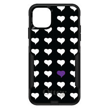 OtterBox Commuter for iPhone 5 SE 6 S 7 8 PLUS X Purple White Repeating Hearts