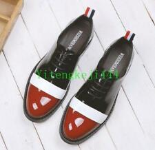 Mens Brogue Patent Leather Lace Up Shoes Dress Oxford Formal Dress Shoes Stylish