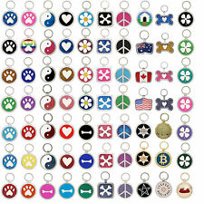 Dog Tag Pet Id Tags Paw Print Pet Tags Dog ID Tag Cat collar custom engraved