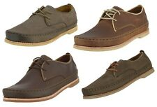 OLUKAI SAMPLE 10200 MEN'S HONOLULU LACE UP LEATHER SHOES US 10 EUR 43