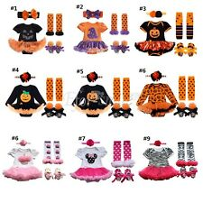 Infant Girl Baby Romper Tutu Dress Tulle Skirt Halloween Outfit Pumpkin Costume