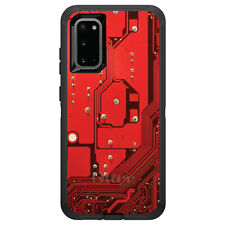 OtterBox Defender for Galaxy S5 S6 S7 S8 S9 PLUS Red Circuit Board