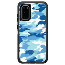 OtterBox Defender for Galaxy S5 S6 S7 S8 S9 PLUS Blue White Camouflage
