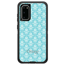 OtterBox Defender for Galaxy S5 S6 S7 S8 S9 PLUS Baby Blue White Damask Pattern