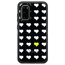 OtterBox Defender for Galaxy S5 S6 S7 S8 S9 PLUS Yellow White Repeating Hearts