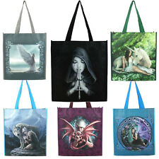 Anne Stokes Fantasy Style Shopping Hand Tote Bag Unicorn Angel Fairy Dragon Wolf