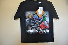 JUSTICE LEAGUE/HEROES UNITE-BOYS SIZE 6/7 thru 14/16 -LICENSED SHORT SLEEVE-NWT