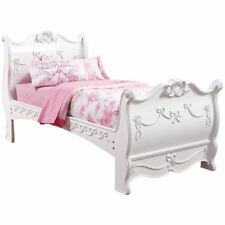 Disney Princess White 3 Piece Sleigh Bed Twin/Full