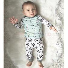 2pcs 0-2T Baby Kids Fashion Baby Tops+Long Pants Girl Boy Outfit Set Clothes