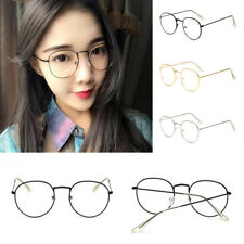 Oval Round Lens Slim Metal Frame Clear lens Fashion Glasses Mens Womens Party ty