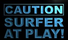 """16""""x12"""" m628-b Caution Surfer at Play Neon Sign"""