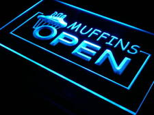 """16""""x12"""" i025-b Muffins OPEN Shop Bakery Neon Sign"""