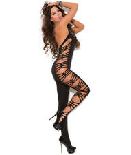 Elegant Moments Deep-V Crotchless Bodystocking Hosiery, Lingerie - Women's