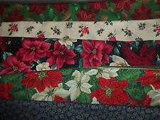 POINSETTIA CHRISTMAS flowers BTY Cotton QUILT Fabric U-PICK see listing for INFO