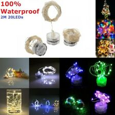 Waterproof 2M 20LED Copper Wire String Light Candle Light Xmas Decor Fairy Light