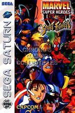 RGC Huge Poster - Marvel Super Heroes vs Street Fighter Sega Saturn ART - SAT039