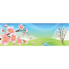Abstract Stretched Canvas Print Wall Art Kids Cherry Blossom