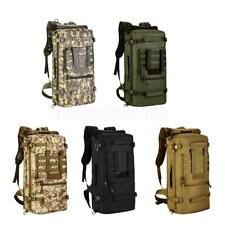 50L Molle Outdoor Military Tactical Bag Camping Hiking Trekking Backpack Bag