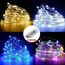 10M 100 LEDs Fairy Copper Wire String Light USB 8 Functions Indoor Outdoor Decor