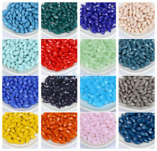 Faceted Glass Crystal Opaque Teardrop Beads Pendant Charms Jewelry 10Pcs 6x12mm